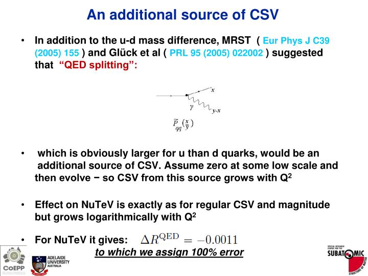 An additional source of CSV