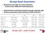 strange quark asymmetry1