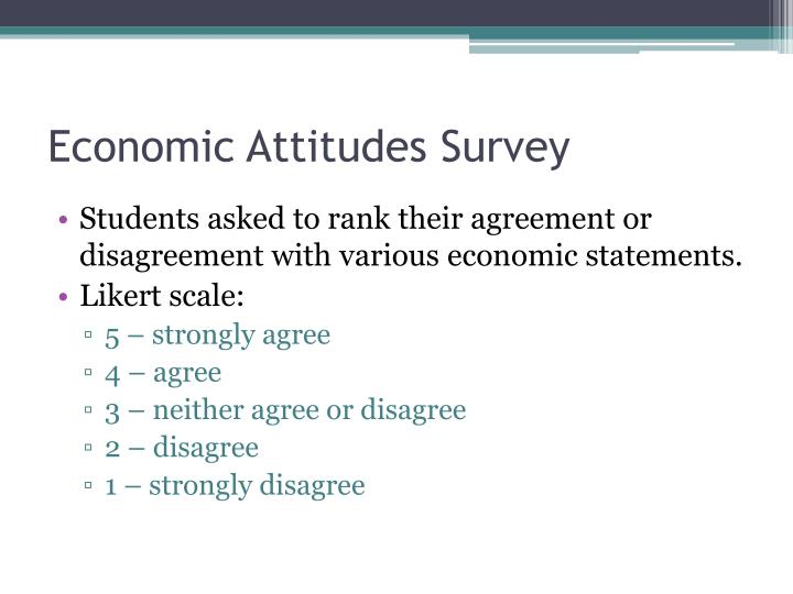 Economic Attitudes Survey