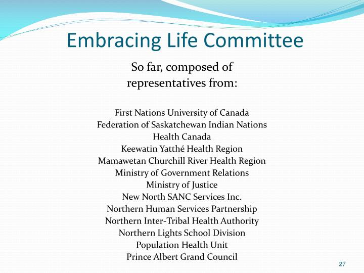 Embracing Life Committee