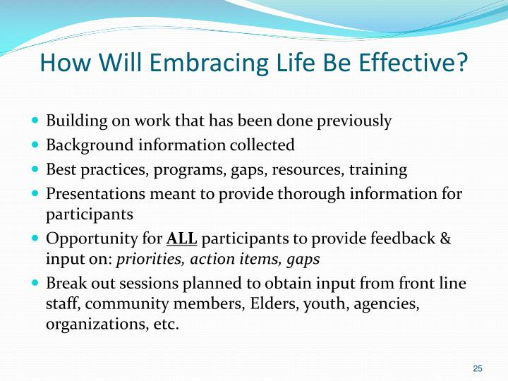How Will Embracing Life Be Effective?