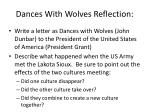 dances with wolves reflection