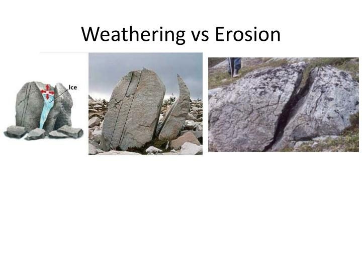 Weathering vs Erosion