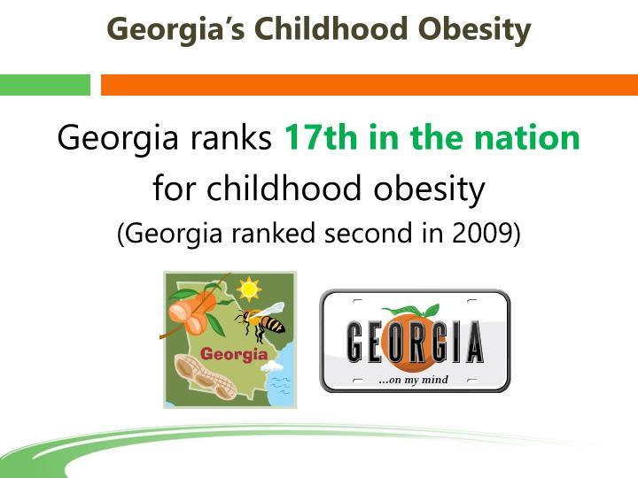Georgia's Childhood Obesity