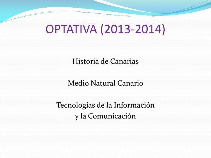 OPTATIVA (2013-2014)