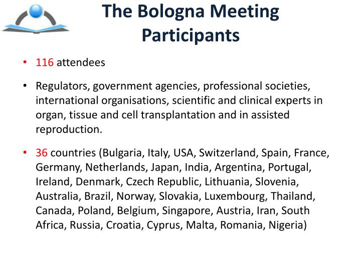 The Bologna Meeting Participants