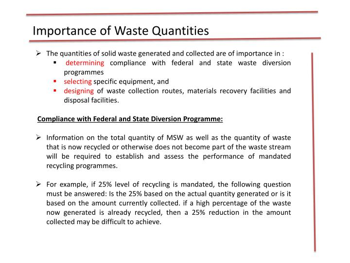 Importance of Waste Quantities