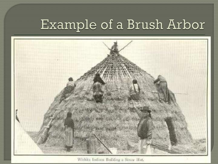 Example of a Brush Arbor