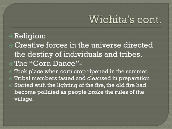 Wichita's cont.