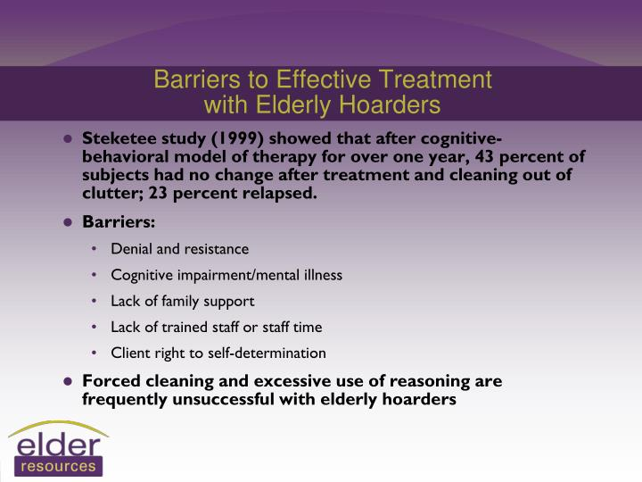 Barriers to Effective Treatment