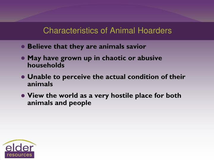 Characteristics of Animal Hoarders