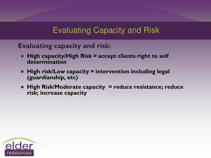 Evaluating Capacity and Risk