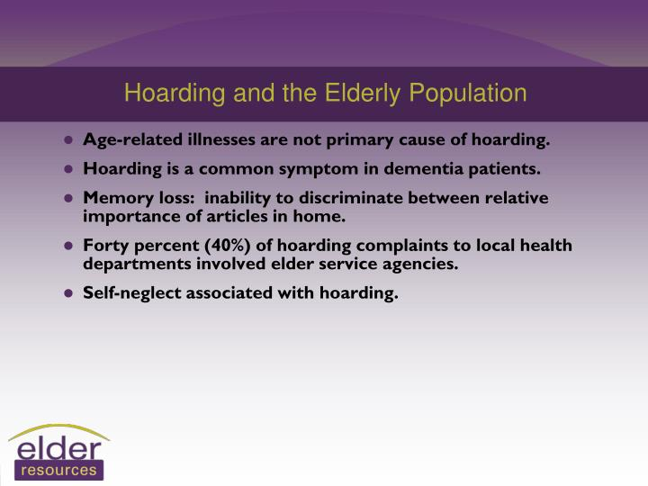 Hoarding and the Elderly Population