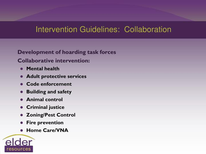 Intervention Guidelines:  Collaboration