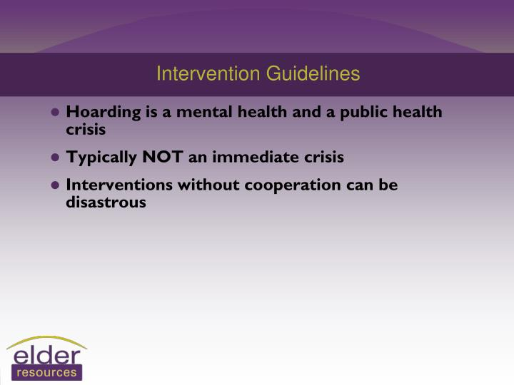 Intervention Guidelines