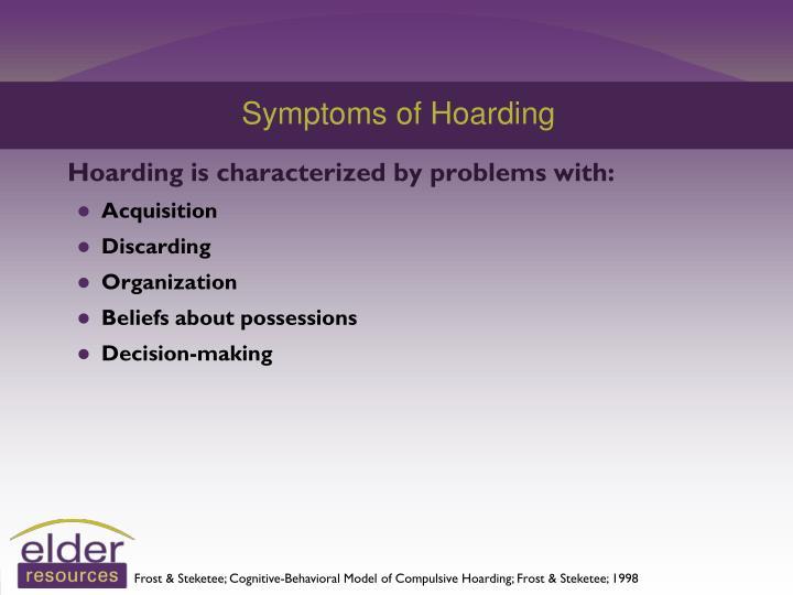 Symptoms of Hoarding