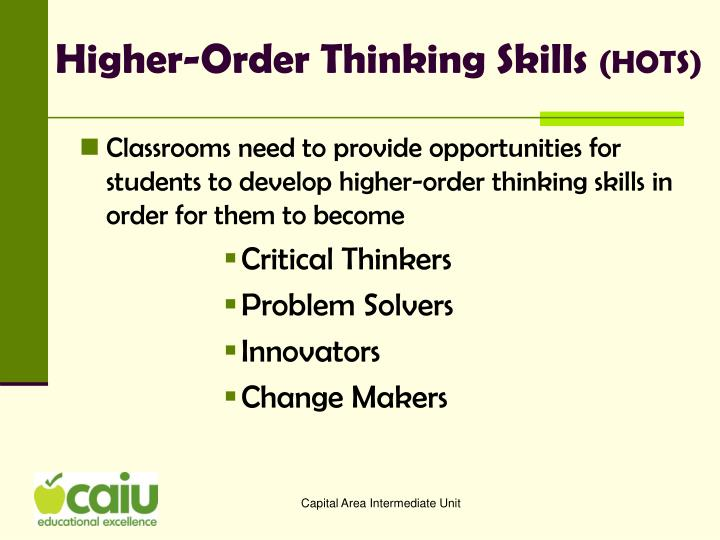 higher order thinking skills for critical thinking