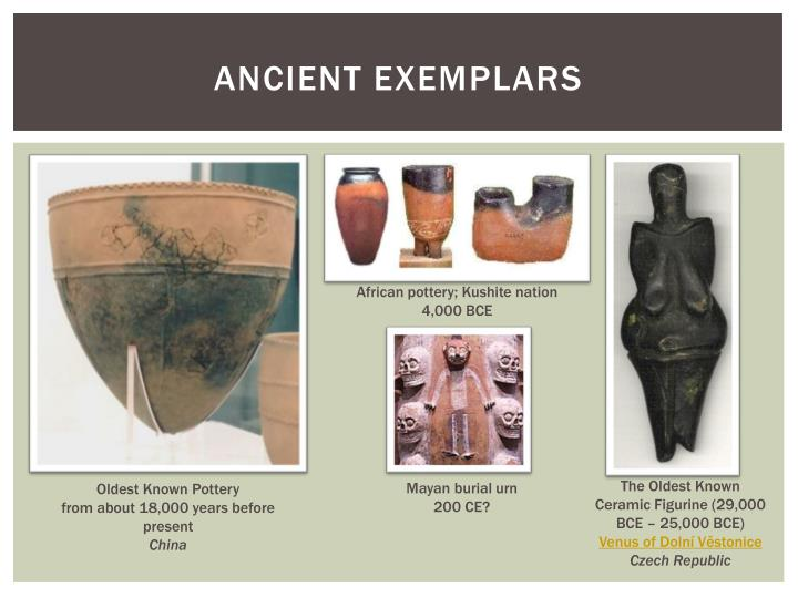 Ancient exemplars