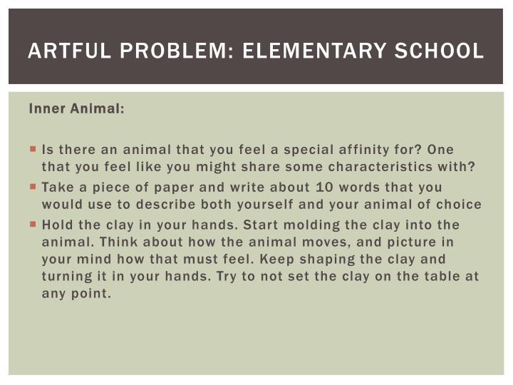 Artful problem: