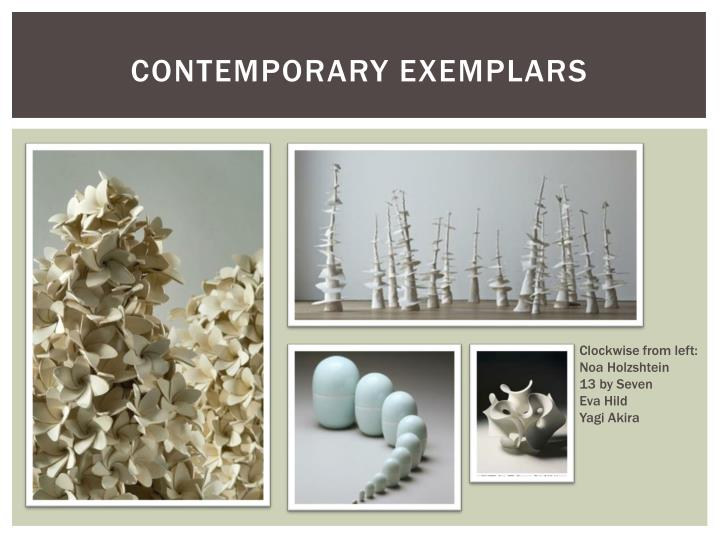Contemporary Exemplars