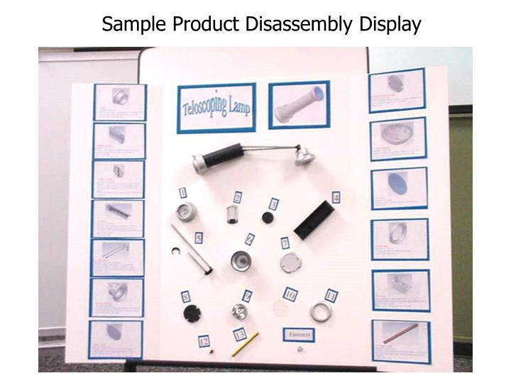 Sample Product Disassembly Display