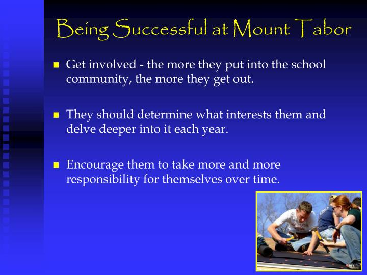 Being Successful at Mount Tabor
