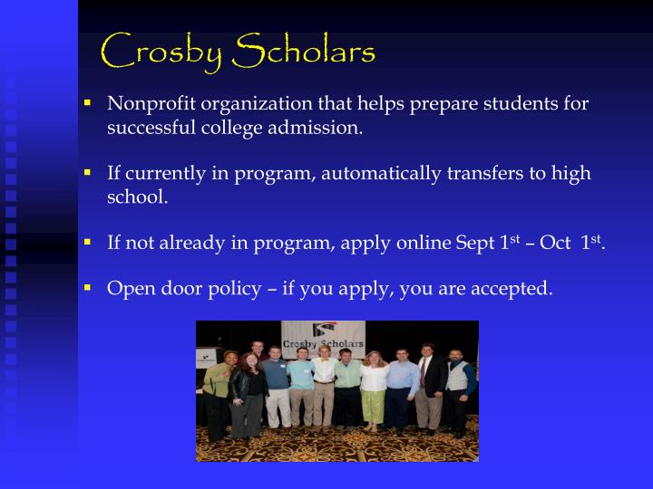 Crosby Scholars