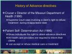 history of advance directives