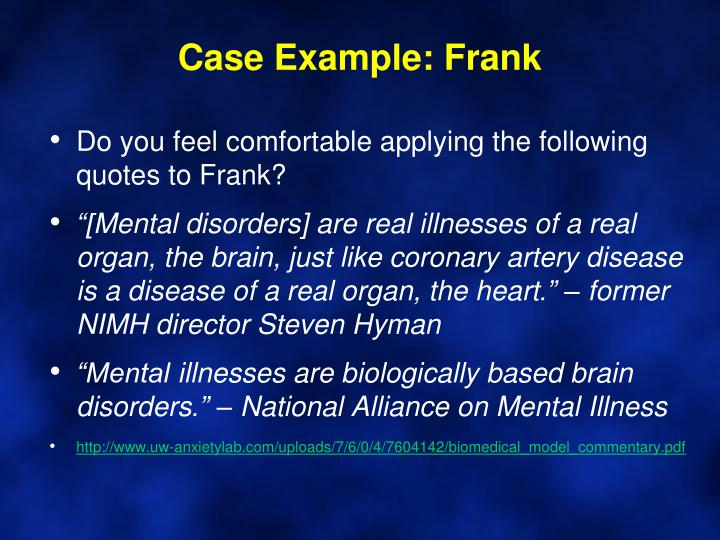 Case Example: Frank