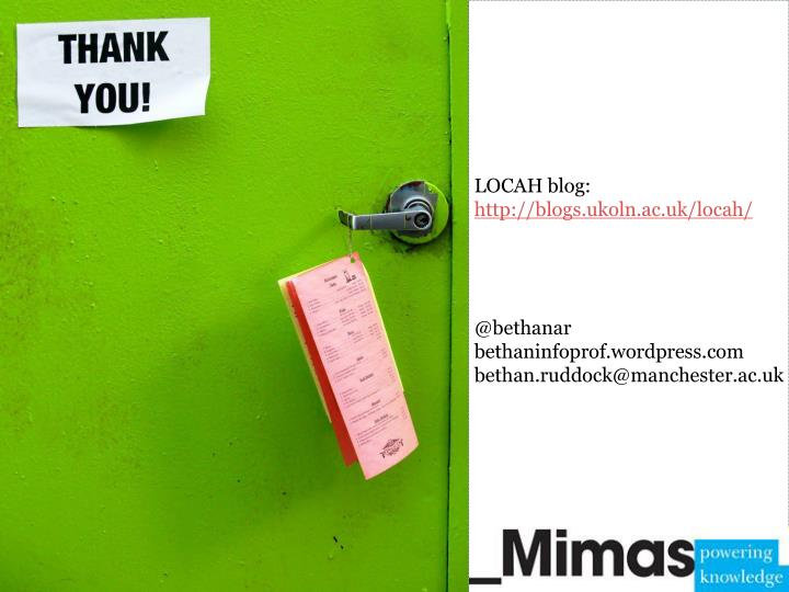 LOCAH blog: