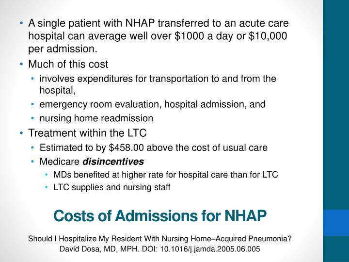 A single patient with NHAP