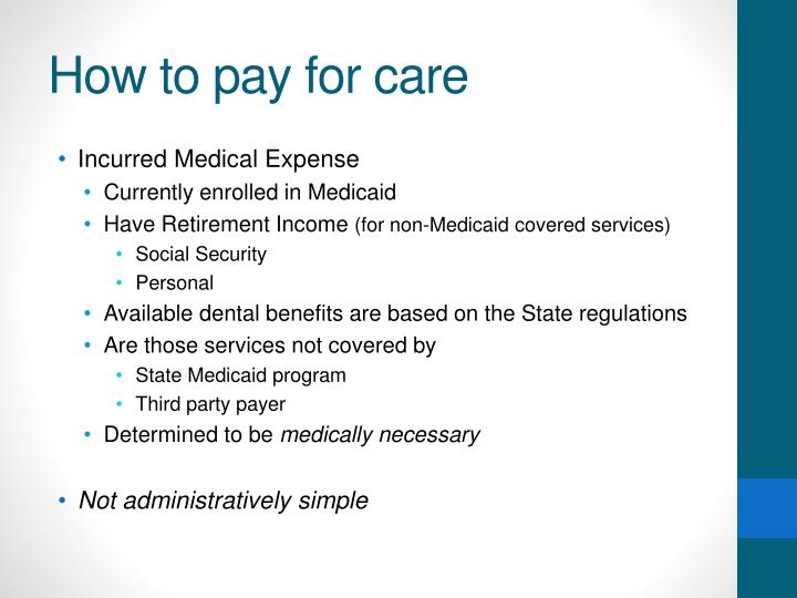 How to pay for care