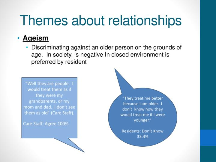 Themes about relationships