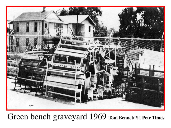 Green bench graveyard 1969