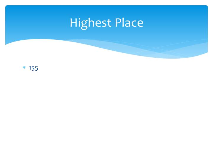 Highest Place