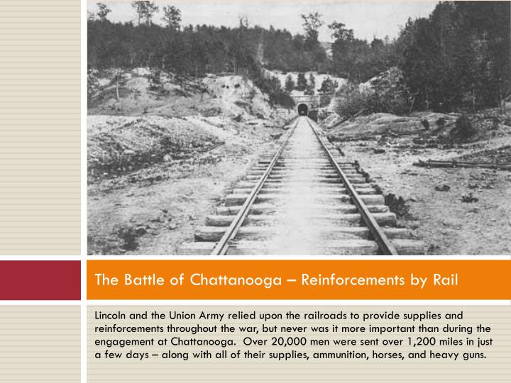 The Battle of Chattanooga – Reinforcements by Rail