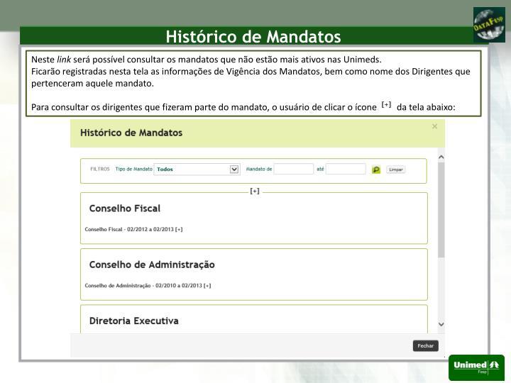 Histórico de Mandatos