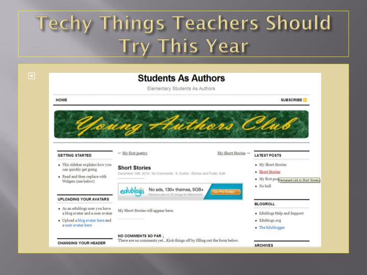 Techy Things Teachers Should Try This Year