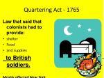 quartering act 1765