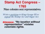 stamp act congress 1765