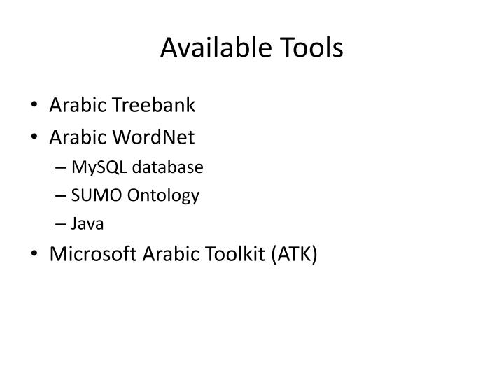 Available Tools