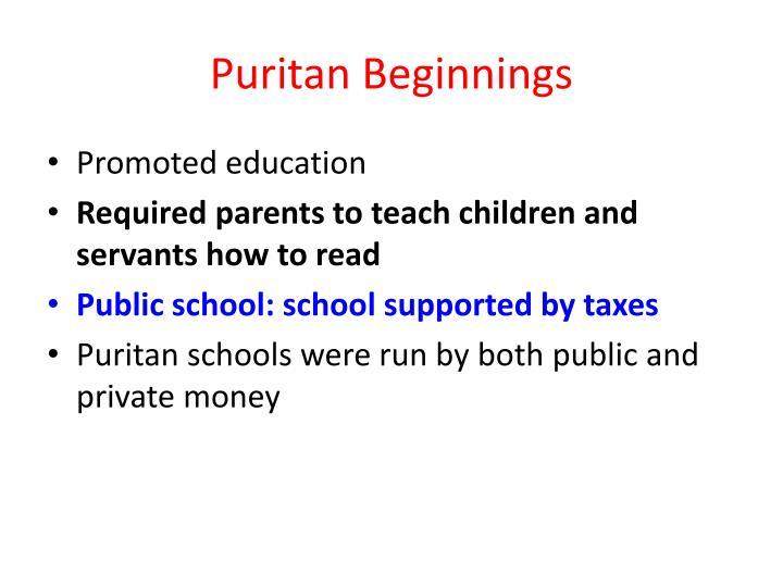 Puritan Beginnings