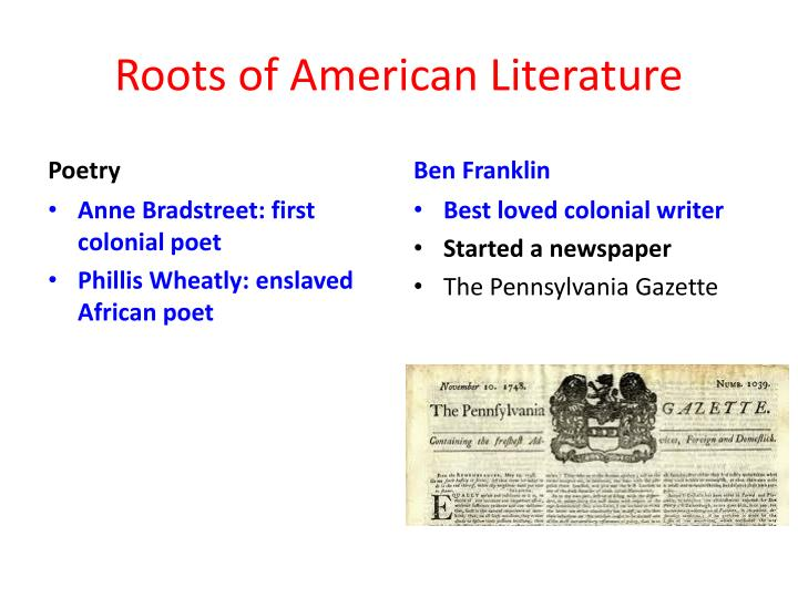 Roots of American Literature