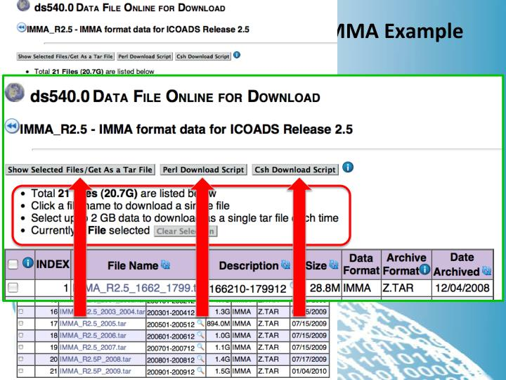 File Level Metadata – ICOADS IMMA Example