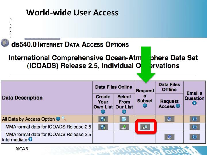 World-wide User Access