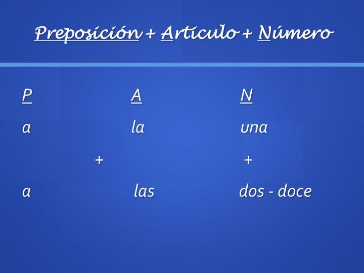 Preposición