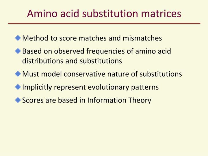 Amino acid substitution matrices