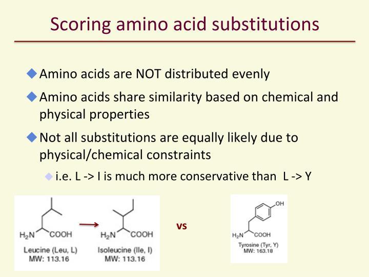 Scoring amino acid substitutions