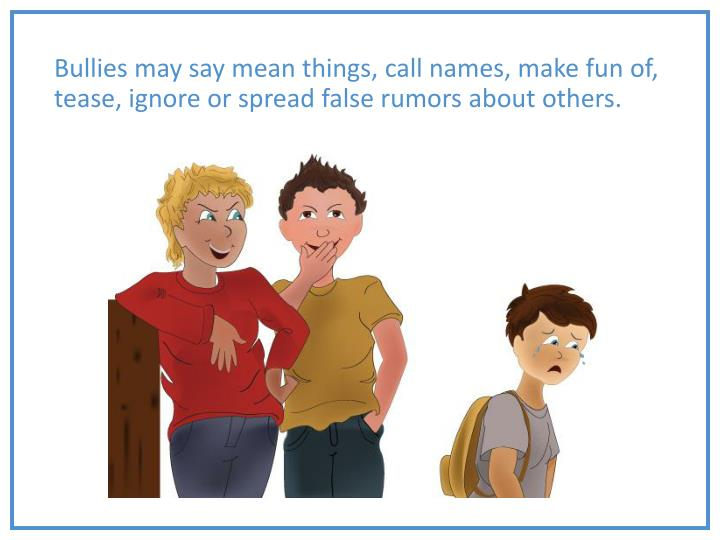 Things Names: Handling Bullying PowerPoint Presentation