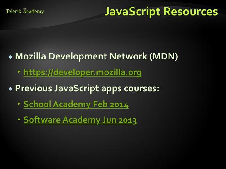JavaScript Resources